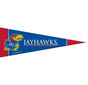 Small Kansas Jayhawks Pennant Flag