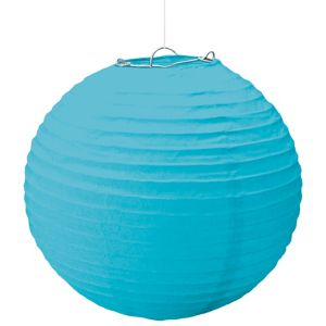 Large Caribbean Blue Paper Lantern