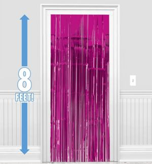 Bright Pink Doorway Curtain