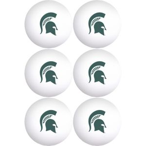Michigan State Spartans Pong Balls 6ct