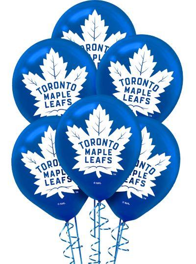 Toronto Maple Leafs Balloons 6ct