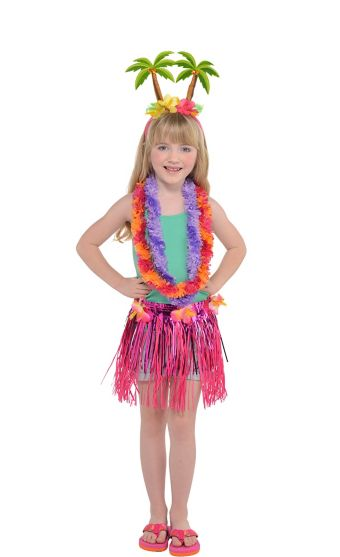 Child Floral Luau Costume Accessory Kit