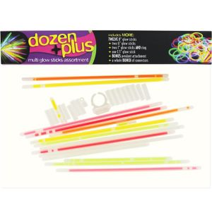 Dozen Plus Glow Sticks Assortment 33pc