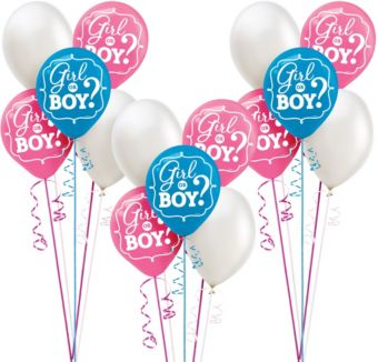 Girl or Boy Gender Reveal Party Balloon Kit 30ct