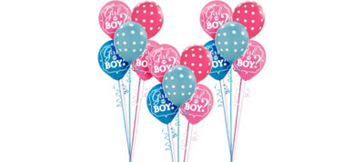 Girl or Boy Gender Reveal Party Balloon Kit 27ct