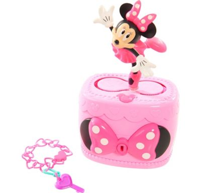 Minnie mouse musical jewelry box 4in x 8in party city for Minnie mouse jewelry box
