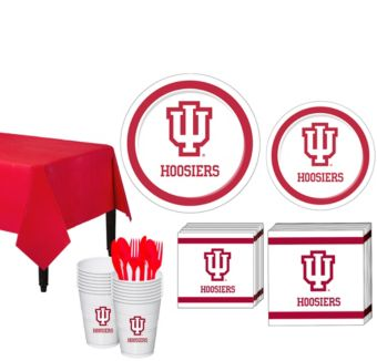 Indiana Hoosiers Basic Party Kit for 16 Guests