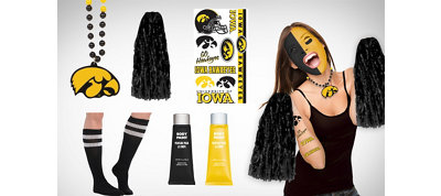 Iowa Hawkeyes Fan Gear Kit