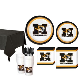 Missouri Tigers Basic Party Kit for 16 Guests