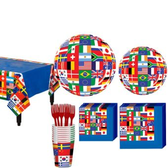 International Flag Basic Party Kit for 8 Guests