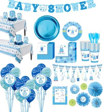 It's a Boy Premium Baby Shower Kit for 32 Guests