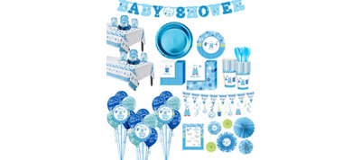 Baby Boy Shower with Love Premium Kit 32 Guests
