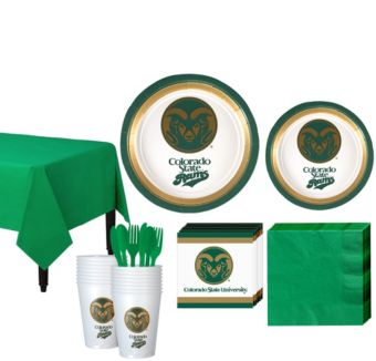 Colorado State Rams Basic Party Kit for 16 Guests