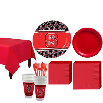 North Carolina State Wolfpack Basic Party Kit for 16 Guests