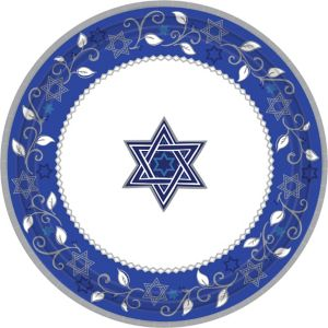 Joyous Holiday Passover Dinner Plates 8ct