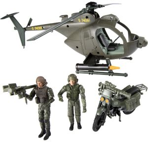 Elite Force Army Strike Little Bird Helicopter Playset 16pc