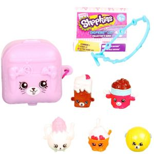 Shopkins Charm & Petkin Backpack Mystery Pack 8pc