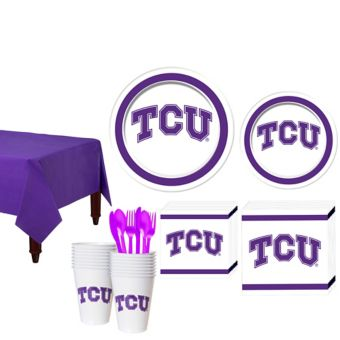 TCU Horned Frogs Basic Party Kit for 16 Guests