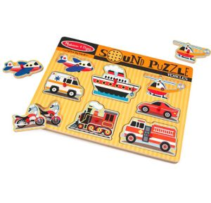 Vehicle Sound Puzzle Playset 9pc