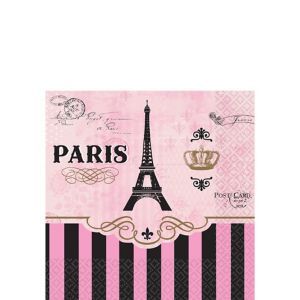 A Day in Paris Beverage Napkins 16ct