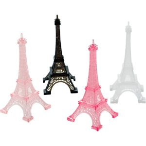 A Day in Paris Eiffel Tower Table Decorations 4ct