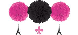 A Day in Paris Fluffy Decorations 3ct