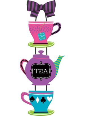 Mad Tea Party Teacup & Teapot Sign