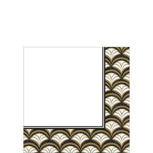 Gold Scalloped Lunch Napkins 16ct
