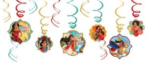 Elena of Avalor Swirl Decorations 12ct
