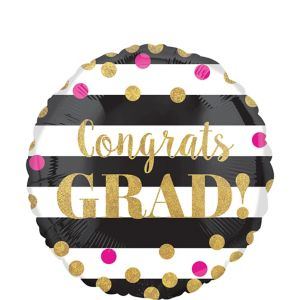 Prismatic Confetti Graduation Balloon