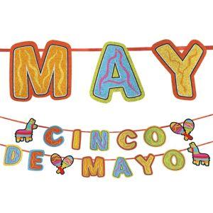 Cinco de Mayo Glitter Letter Banner