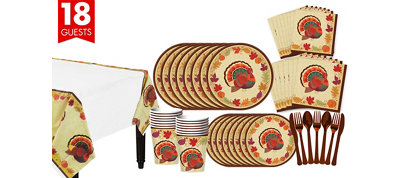 Thanksgiving Holiday Tableware Kit for 18 Guests