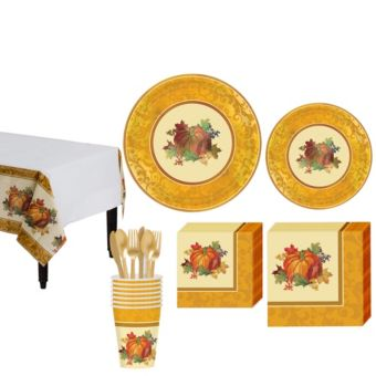Bountiful Holiday Fall Tableware Kit for 8 Guests