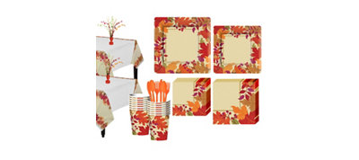 Festive Fall Tableware Kit for 18 Guests