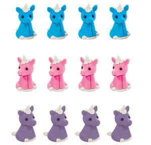 Unicorn Erasers 12ct