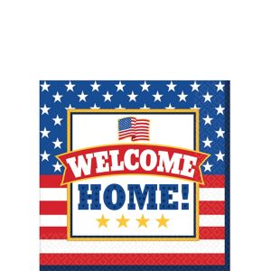Patriotic Welcome Home Beverage Napkins 36ct