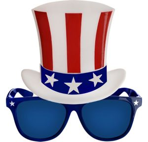 Patriotic Top Hat Sunglasses