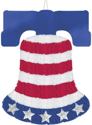 Tinsel Patriotic Liberty Bell Sign