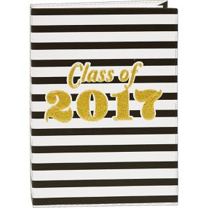 Black & White Stripes Class of 2017 Graduation Photo Album