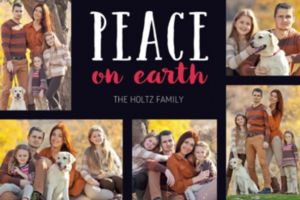 Custom Black Peaceful Collage Photo Card