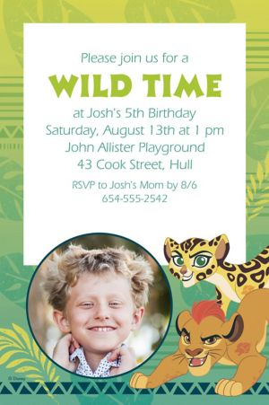 Custom Lion Guard Photo Invitation