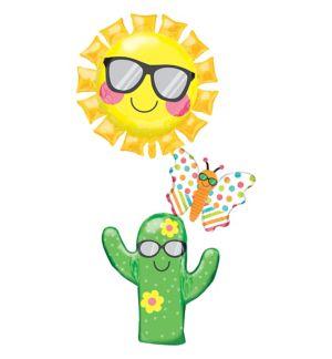 Giant Stacked Fun in the Sun Cactus Balloon
