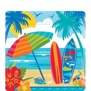 Sun & Surf Beach Dessert Plates 18ct