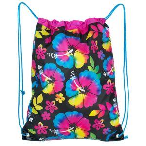 Neon Hibiscus Drawstring Backpack