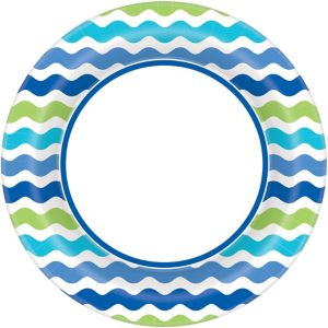 Cool Wavy Stripes Dinner Plates 40ct
