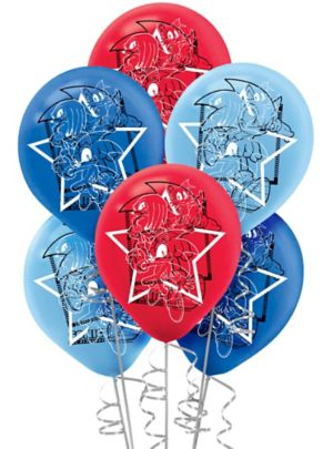 sonic the hedgehog balloons 6ct party city