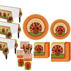 Turkey Dinner Tableware Kit for 36 Guests