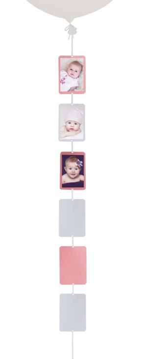 White & Light Pink Photo Balloon Weight Tail