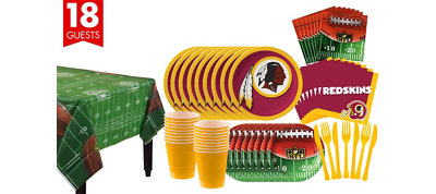Washington Redskins Super Party Kit for 18 Guests