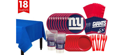 New York Giants Super Party Kit for 18 Guests